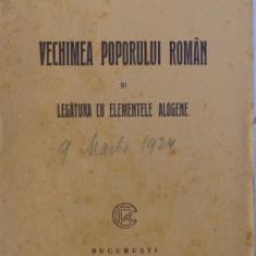 VECHIMEA POPORULUI ROMAN SI LEGATURA CU ELEMENTELE ALOGENE de S. MEHEDINTI, 1925 - Carte Istorie