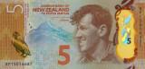 Bancnota Noua Zeelanda 5 Dolari (20)15 - P191 UNC ( polimer )