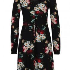 Rochie clos neagra cu print floral Dorothy Perkins - Rochie de zi