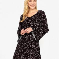 Rochie neagra cu print si maneci clopot - ONLY Anika - Rochie de zi