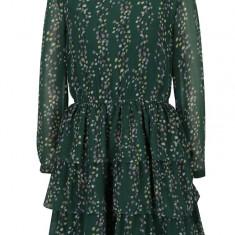 Rochie verde cu volane si print floral - ONLY Ditte - Rochie de zi