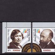 2013 LP 2004 FONOTECA DE AUR A ROMANIEI NICOLAE IORGA SI ELENA VACARESCU MNH - Timbre Romania, Nestampilat