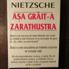 Nietzsche . Asa Grait-a Zarathustra - Carte Filosofie
