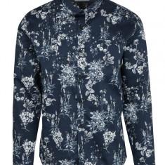 Camasa casual albastru inchis cu print floral - Lindbergh - Camasa barbati