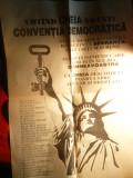 Afis Politic al Conventiei Democratice ,probabil 1992 ,60x84 cm + Manifest-Apel