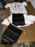 Costum popular marimea S, S/M, Alb