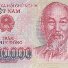 Bancnota Vietnam 200.000 Dong 2016 - P123i UNC ( polimer ) - bancnota asia