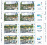2007 LP 1790 LP 1790 a EM. COMUNA ROM-SERBIA  BLOCURI DE 4 TIMBRE  + 2  VG MNH, Nestampilat