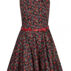 Rochie clos bleumarin cu print floral Closet - Rochie de zi