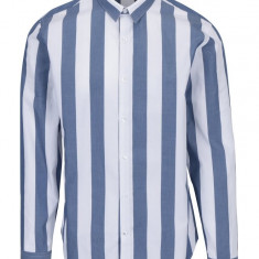 Camasa casual alb&albastru in dungi Lindbergh - Camasa barbati