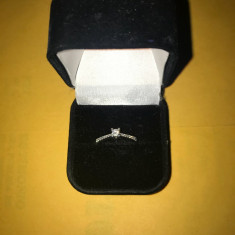 Inel aur alb cu 17 diamante