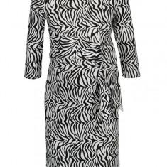 Rochie cu print zebra si cordon in talie pentru femei insarcinate - Mama.licious Zebra - Rochie gravide