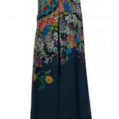Rochie bleumarin cu print - Desigual Candice - Rochie de zi