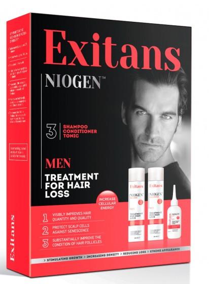 NIOGEN - Tratament impotriva caderii parului pentru barbati Sampon+Balsam+Tonic