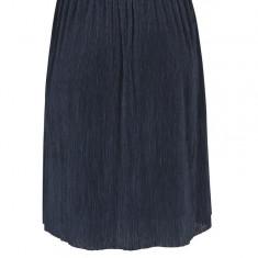 Fusta bleumarin cu talie elastica VERO MODA Mila, Vero Moda