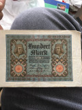 100 Marci 1920 bacnota Germania in stare buna