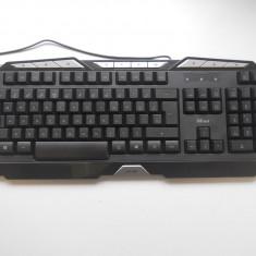 Tastatura Gaming Iluminata Trust GXT 280., USB, Cu fir