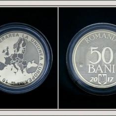 50 bani 2017 Aderarea la UE moneda rara Romania! - Moneda Romania