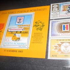 1983/2018 LP 1082  ZIUA MARCII POSTALE ROMANESTI