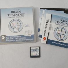 Joc consola Nintendo DS 2DS 3DS - Brain Training, Actiune, Toate varstele, Single player