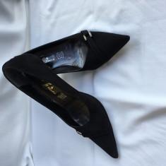 Pantofi dama - Pantof dama Bata, Culoare: Negru, Marime: 36, Cu toc