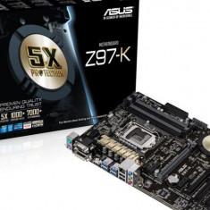 Placa de baza Asus Z97-K, socket 1150, Intel Z97, 4xDDR3, 6xSATA3, ATX, Pentru INTEL, LGA 1150, DDR4