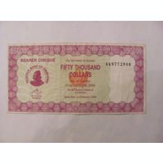 CY - 50000 dollars dolari 2006 Zimbabwe