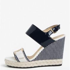 Sandale alb & bleumarin cu platforma - Geox Janira - Sandale dama