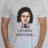 Tricou Game Of Thrones, Snow, tricouri personalizate, tricouri caricaturi, L, M, S, XL, XXL, Maneca scurta, Alb, Albastru, Bleumarin, Gri, Negru, Rosu, Verde
