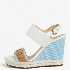 Sandale alb & bleu cu platforma - Geox Janira - Sandale dama