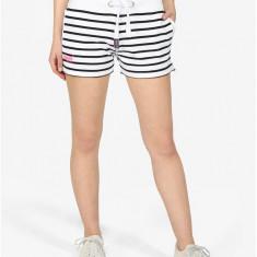 Pantaloni scurti cu dungi alb & negru - Superdry - Pantaloni dama