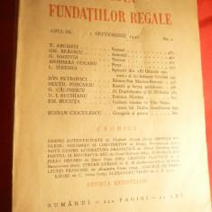 Revista Fundatiilor Regale 1sept. 1936 , 187 pag