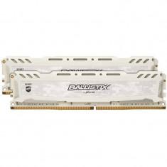 Memorie Crucial Ballistix Sport LT White 8GB DDR4 2400MHz CL16 Dual Channel Kit - Memorie RAM