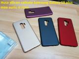 Husa silicon calitate Samsung Galaxy S9 plus negru mov auriu si rosu