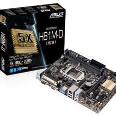 Placa de baza Asus H81M-D R2.0, socket LGA1150, chipset Intel H81, micro-ATX, Pentru INTEL, LGA 1150, DDR 3
