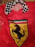 Tricou Ferrari  retro de colecție, L/XL, Maneca scurta, Rosu, Made in Italia