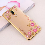 Husa Huawei Mate 10 Lite - Luxury Flowers Gold