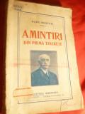 Radu Rosetti -Amintiri din prima tinerete - Prima Ed. 1927 Cultura Romaneasca