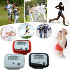 Pedometru LCD alb - Distanță de mers pe jos / Calculator de distanță / Calorii