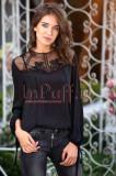 Bluza eleganta neagra din voal