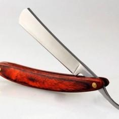 Brici barbatesc metal maner lemn si curea de ascutit