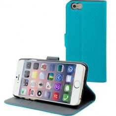 Husa Flip Cover Muvit 96953 Wallet albastra pentru Apple iPhone 6 Plus