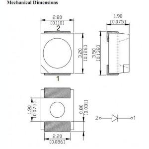LED SMD PLCC-2 1210 3528 Portocaliu/Orange EPISTAR