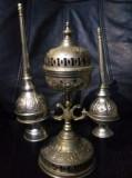 OBIECT BISERICESC Rar,foarte vechi cu CADELNITA si CANDELA argintata,Tp.GRATUIT