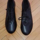 Pantofi Step din piele, 43, Negru, Capezio