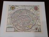 Gravura veche Harta Caroli Magni (1572 - 1619)