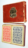 Pachet dublu carti de joc vechi Piatnik Wien - Romme, Bridge, Canasta - Austria