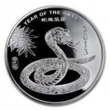 SUA - Anul Sarpelui 2013 - Moneda Lingou 15.55  gr. Argint .999 ( 1/2 oz. )