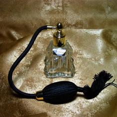 Parfumiera, sticla parfum, Art Deco Bohemia, colectie, cadou, vintage