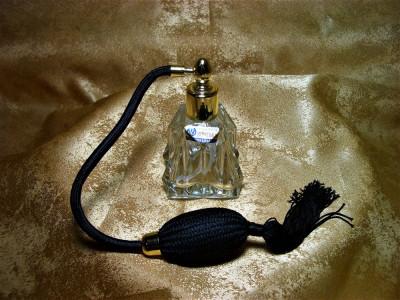 Parfumiera, sticla parfum, Art Deco Bohemia, colectie, cadou, vintage foto